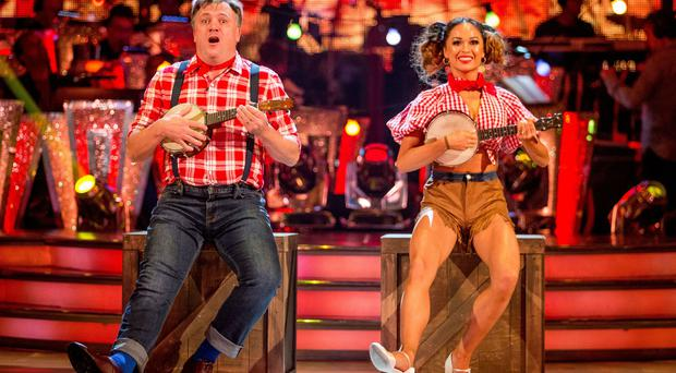 Ed Balls earned a standing ovation from the Strictly audience for his second dance (BBC/PA)