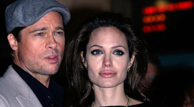 Hollywood stars Brad Pitt and Angelina Jolie