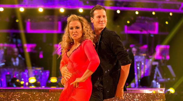 The injury meant Anastacia and her dance partner Brendan Cole could not take part in last weekend's dance-off (BBC)
