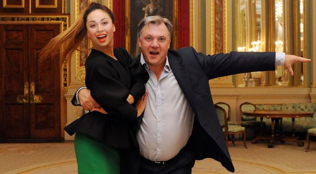 Ed Balls and Strictly Come Dancing partner Katya Jones at the Room to Read charity gala