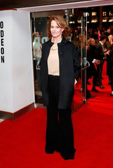 Sigourney Weaver attends the A Monster Calls premiere during the 60th BFI London Film Festival at the Odeon Leicester Square
