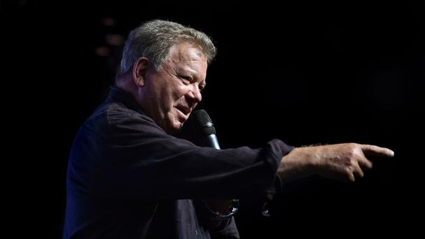 William Shatner, who played Captain Kirk, during a press conference to launch Destination Star Trek Europe at The NEC in Birmingham