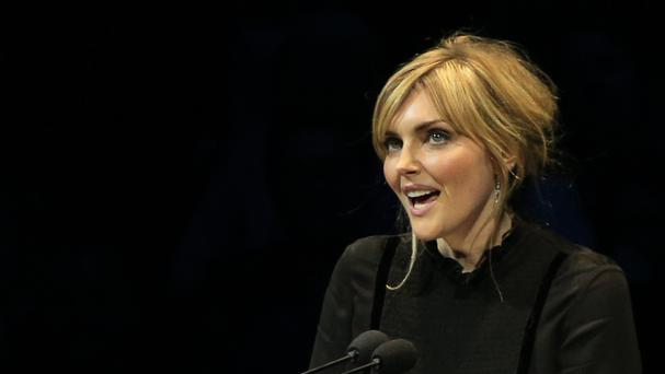 Sophie Dahl reads a letter during the fifth night of the Letters Live series at the Freemason's Hall, London.