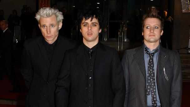 American band Green Day are on course for the top slot