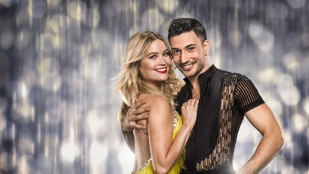 Laura Whitmore with her dance partner Giovanni Pernice (BBC/PA)