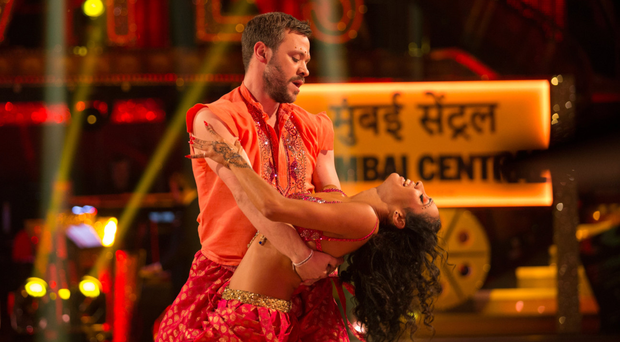 Singer Will Young with Strictly dance partner Karen Clifton