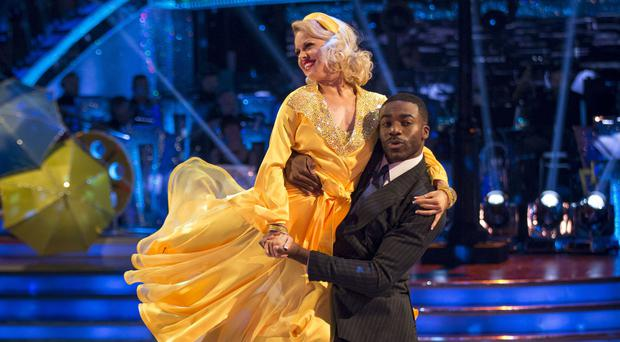 Ore Oduba with his dance partner Joanne Clifton