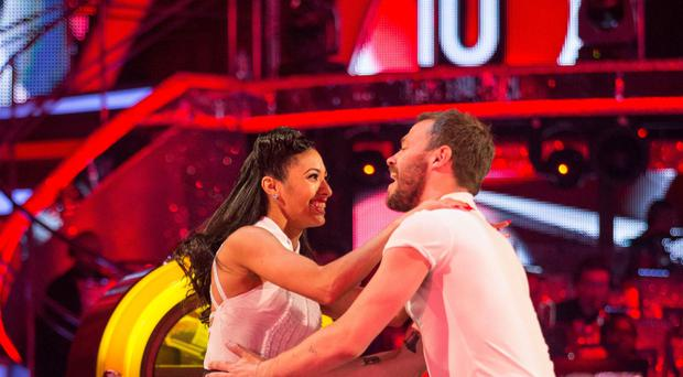 Will Young with his dance partner Karen Clifton during their run on Strictly Come Dancing