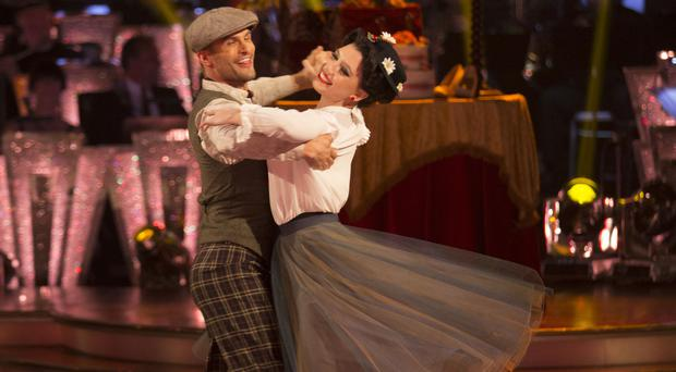 Daisy Lowe with her dance partner Aljaz Skorjanec on Strictly Come Dancing (BBC/PA)