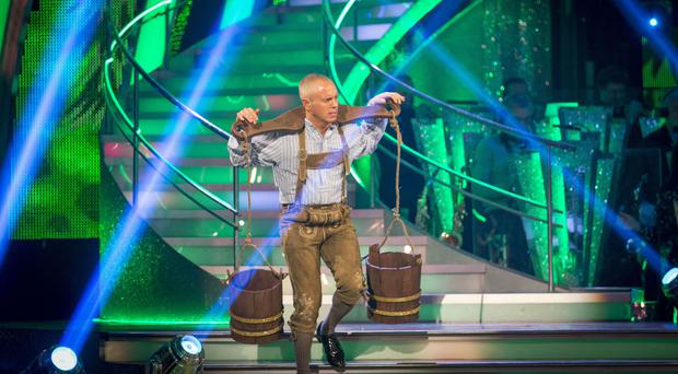EMBARGOED TO 2025 SATURDAY OCTOBER 15 For use in UK, Ireland or Benelux countries only Undated BBC handout photo of Judge Rinder during a dress rehearsal for tonight's edition of the BBC1 show, Strictly Come Dancing.
