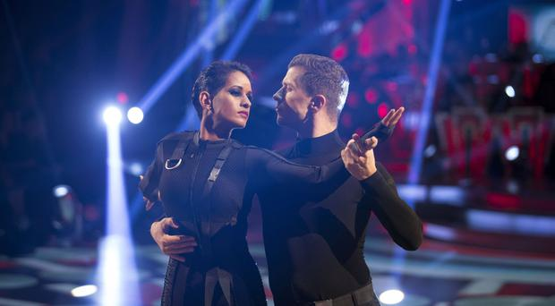 Naga Munchetty with her dance partner Pasha Kovalev