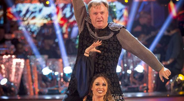Ed Balls thinks he and dance partner Katya Jones are being kept in Strictly because voters recognise they are trying their best (BBC/PA Wire)