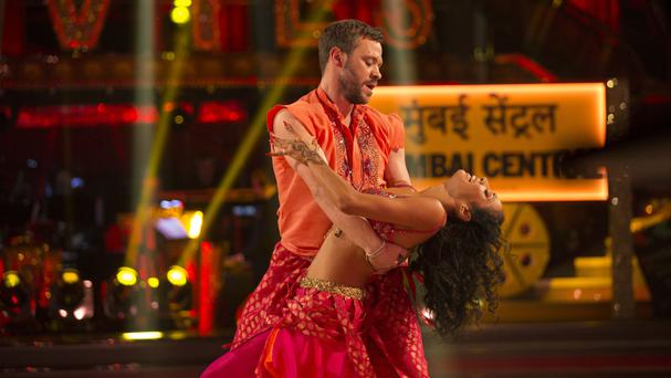 Will Young with his dance partner Karen Clifton on Strictly Come Dancing