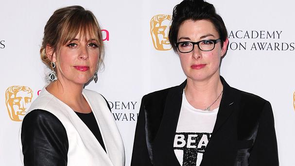 Sue Perkins (right) has hosted Great British Bake Off with Mel Giedroyc since 2010
