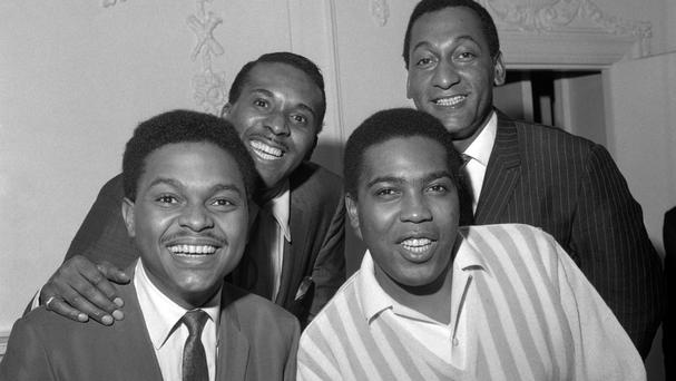 The original Four Tops, seen here in the 1960s, with Duke Fakir on the back left
