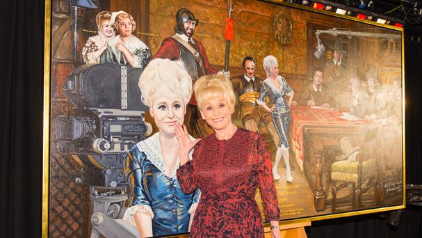 Dame Barbara Windsor unveils And When Did You Last See Your Feet? by artist Nick McCann