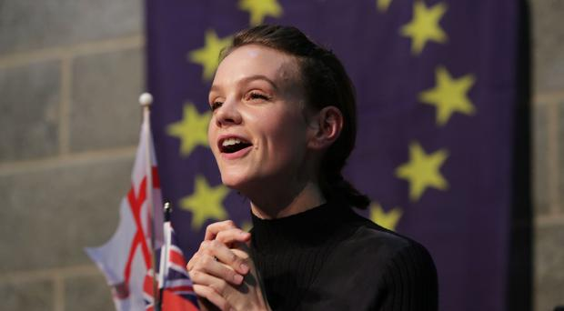 Carey Mulligan at the Young Vic theatre in London