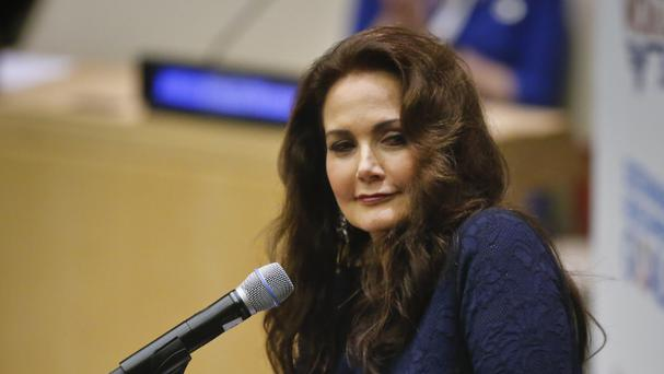 Lynda Carter played Wonder Woman in the 1970s TV series (AP)
