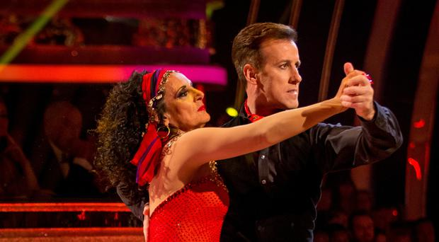Lesley Joseph, pictured with Anton Du Beke, was the fifth celebrity to be voted off Strictly Come Dancing (BBC/PA)