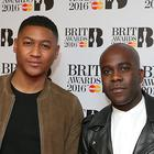Rickie Haywood Wiliams and Melvin Odoom, who will host the Mobo Awards in Glasgow, arriving for the 2016 Brit Awards nominations