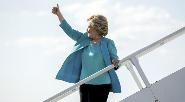 Democratic presidential candidate Hillary Clinton says she is a huge fan of her high-profile backer Adele (AP)