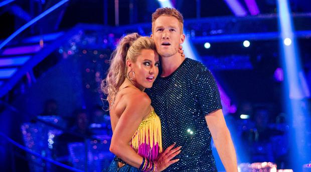 Greg Rutherford and his partner Natalie Lowe will perform a rumba (BBC/PA)
