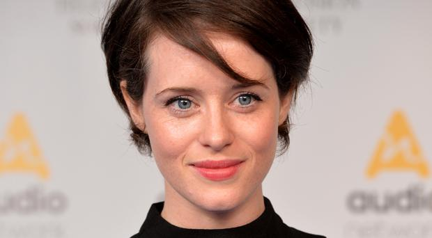 Actress Claire Foy defied the pain after breaking her elbow when she fell over at a wedding