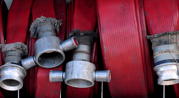 Firefighters in Coalisland came under attack last night from teenagers throwing fireworks