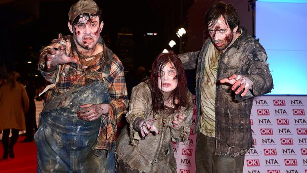 Zombies from The Walking Dead, now in its seventh season