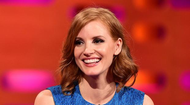 Jessica Chastain handprints and footprints immortalised at TCL Chinese Theatre