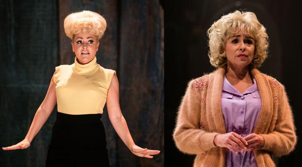 Jaime Winstone (left) and Samantha Spiro portraying Dame Barbara Windsor (BBC/PA)