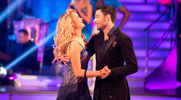 Laura Whitmore and Giovanni Pernice on Strictly Come Dancing