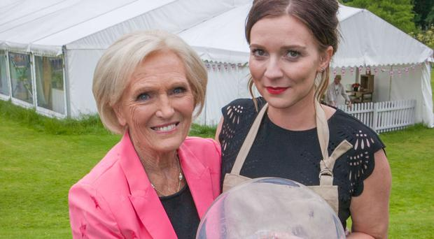 Bake Off winner Candice Brown with judge Mary Berry during the final of the series