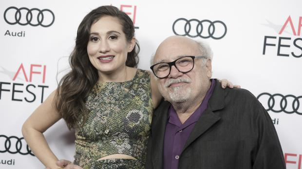 Danny DeVito and Lucy DeVito attend the premier of The Comedian in Los Angeles (AP)