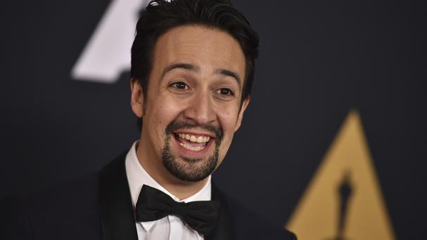 Lin-Manuel Miranda arrives at the 2016 Governors Awards (AP)