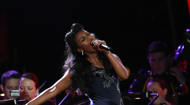 Beverley Knight was helped off the stage during a performance of Whitney Houston's I Will Always Love You