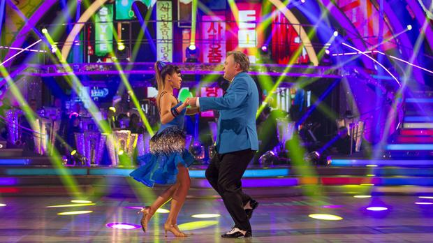 Ed Balls and Katya Jones secured a place at Blackpool's Tower Ballroom after dancing to Gangnam Style