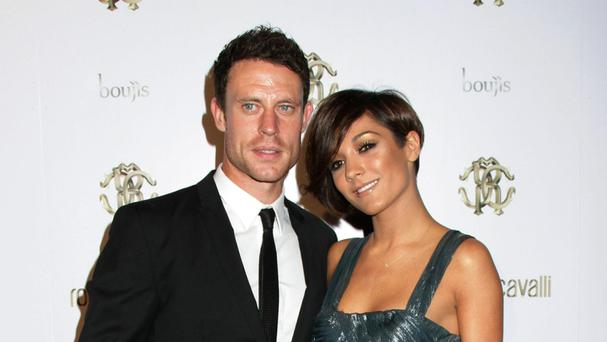 Wayne Bridge with wife Frankie.