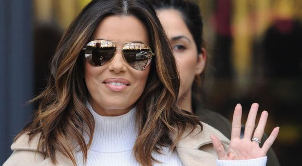 Eva Longoria leaves the ITV studios in London, after appearing on Loose Women.
