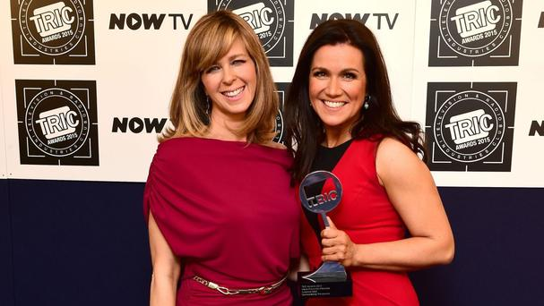 Susanna Reid (right) and Kate Garraway were made up to look 40 years older as part of Good Morning Britain's 1 Million Minutes campaign