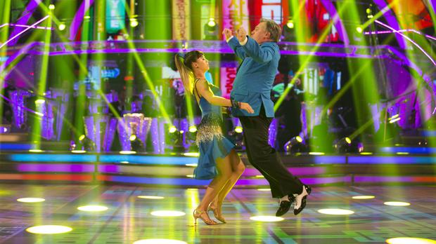 Ed Balls and Katya Jones perform to Gangnam Style on Strictly Come Dancing.