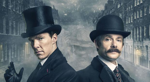 Benedict Cumberbatch and Martin Freeman return in Sherlock (BBC/PA)