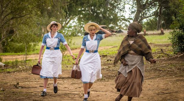 A still from the Christmas special of Call The Midwife, set in the Eastern Cape of South Africa (BBC/PA)