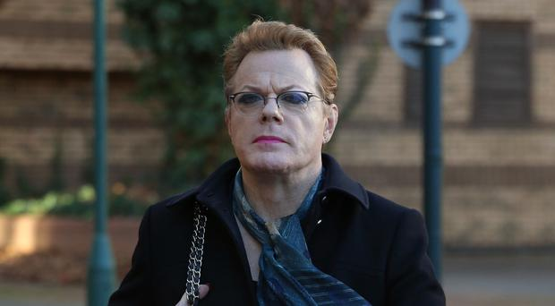 Eddie Izzard arrives at court