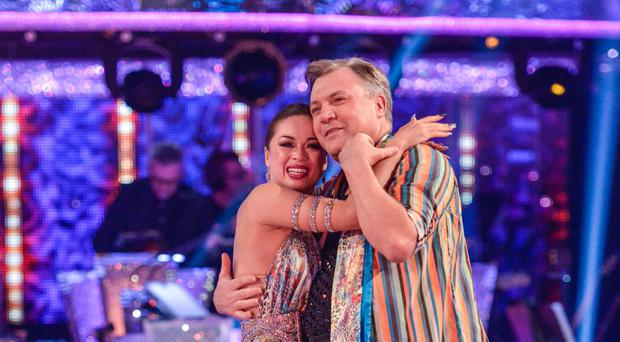 Ed Balls with dance partner Katya Jones (BBC)