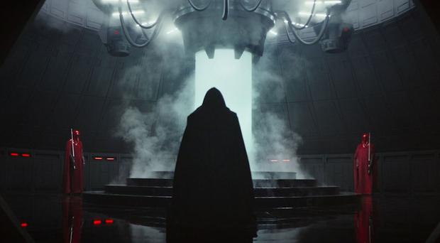 Screen-grabbed image taken from the Star Wars YouTube channel of a scene from a trailer in the new Star Wars anthology film Rogue One
