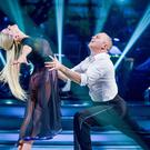 Judge Robert Rinder and Oksana Platero on Strictly Come Dancing (BBC/PA)