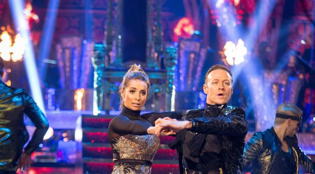 Louise Redknapp performing the paso doble