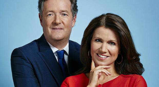 Good Morning Britain presenters Piers Morgan, left, and Susanna Reid
