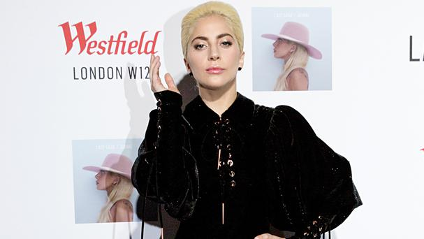 Lady Gaga at Westfield in west London, ahead of her surprise performance
